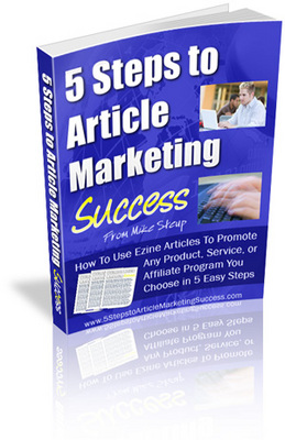 Product picture 5 Steps To Article Marketing Success MRR